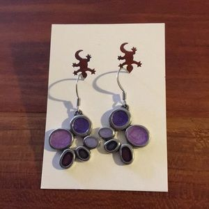 Danforth pewter purple bubbles earrings